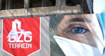 Professionele graffiti op GZG terrein