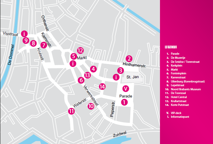 Jazz in Duketown plattegrond - Den Bosch Tips