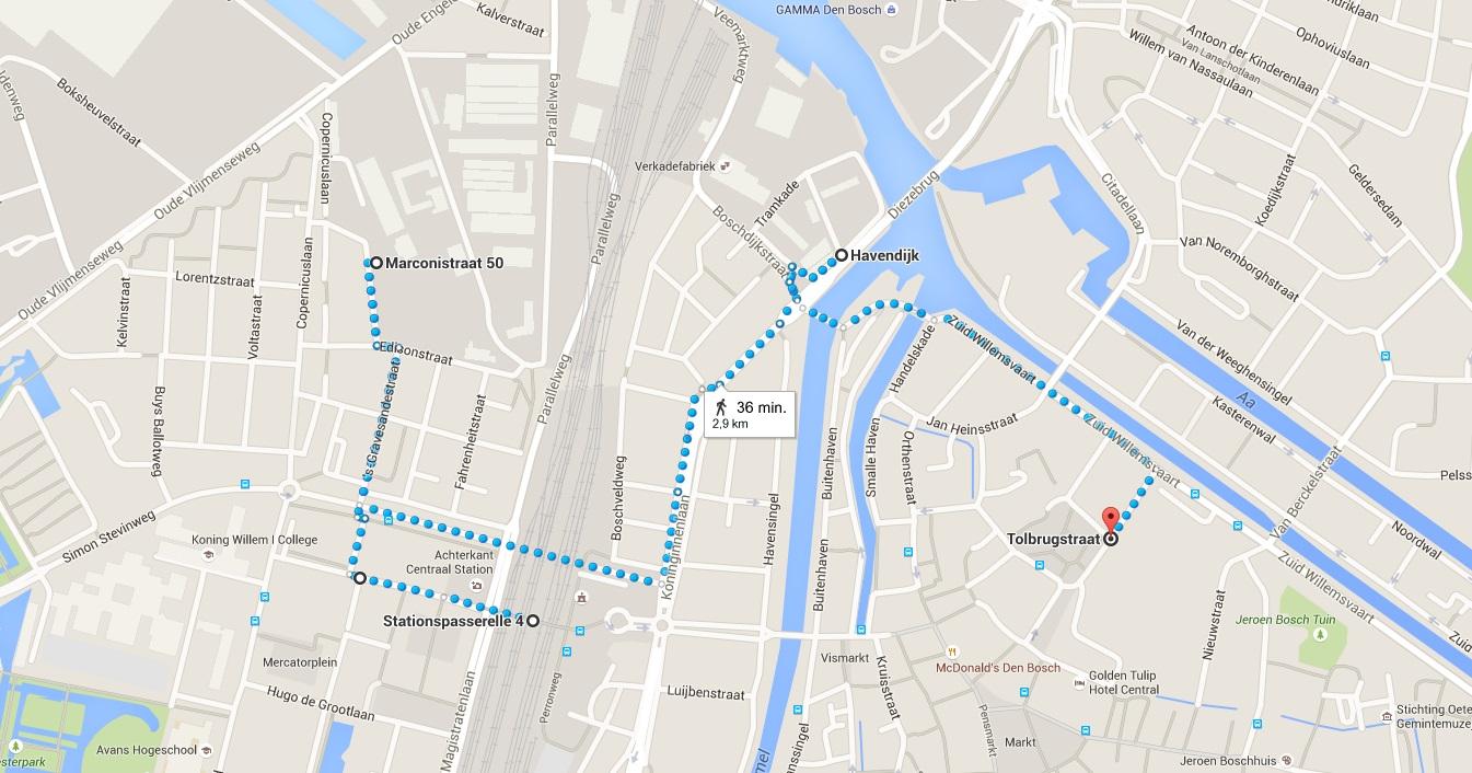 Stadswandeling graffiti Den Bosch kaart2 - Den Bosch Tips